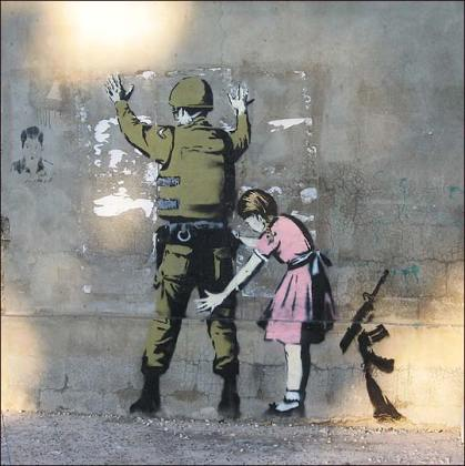 throw up done by Banksy